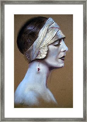 Sepia Siren Framed Print by Lynda Robinson