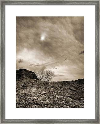 Framed Print featuring the photograph Sepia Skies by Meir Ezrachi
