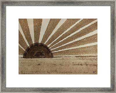Sepia Sunset Original Painting Framed Print by Sol Luckman