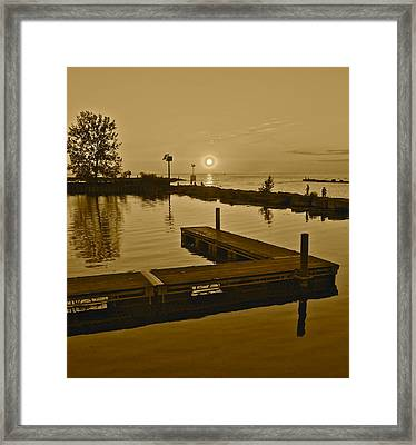 Sepia Sunset Framed Print by Frozen in Time Fine Art Photography