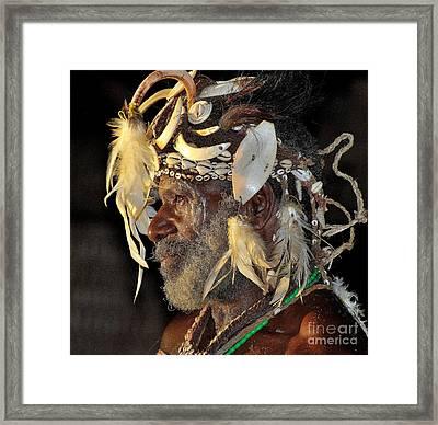 Sepik River Elder Framed Print