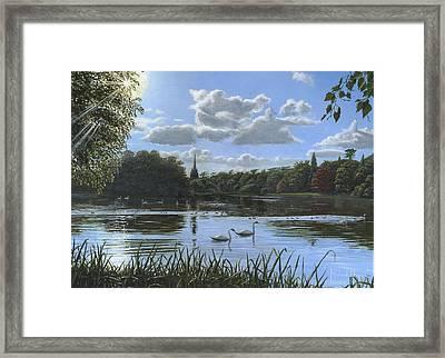 September Afternoon In Clumber Park Framed Print by Richard Harpum