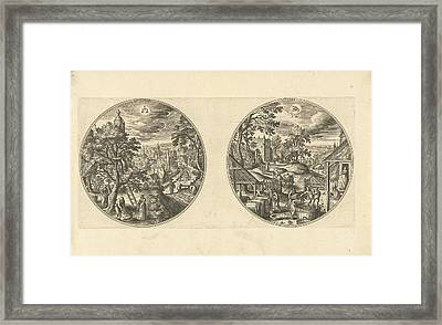 September And October, Adriaen Collaert, Hans Bol Framed Print by Adriaen Collaert And Hans Bol And Hans Van Luyck