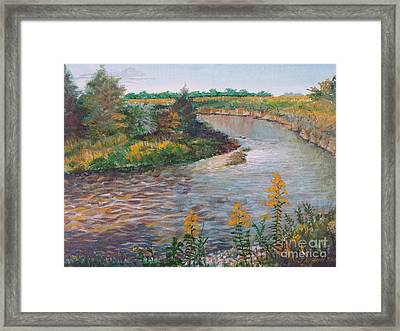September At Creekside Framed Print