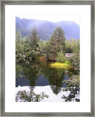 September At The Mendenhall Glacier. Framed Print