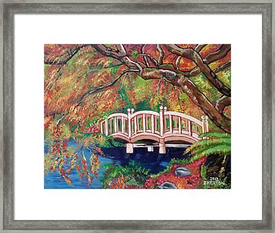 September Bridge Framed Print by John Keaton