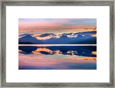 September Dawn On Lake Mcdonald Framed Print