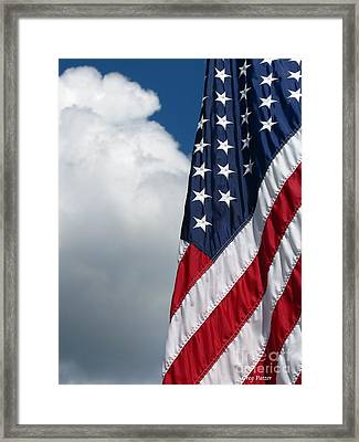 September Flag Framed Print