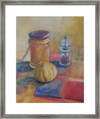 September Kitchen Framed Print by Carol Cotter