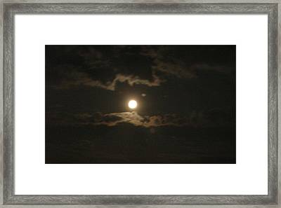 Framed Print featuring the photograph September Moonlight by Emmy Marie Vickers