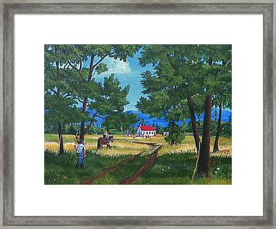 September Preparation Framed Print by Glen Gray
