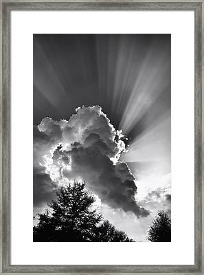 September Rays Framed Print