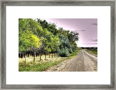 September Road Framed Print