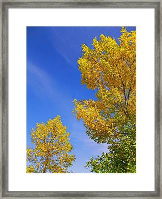September Sky Framed Print