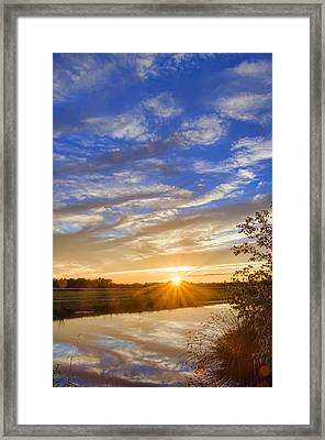 September Sky Reflection Framed Print