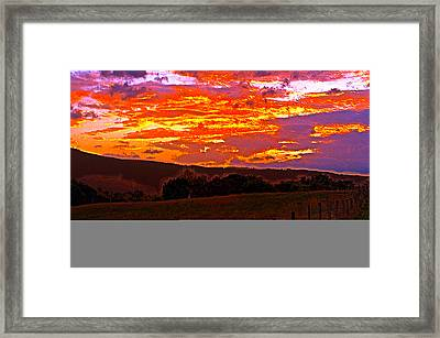 September Smokies Sunrise Framed Print