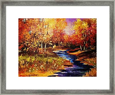 The Brilliance Of Autumn Framed Print