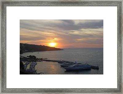September Sunset In Sorrento Framed Print