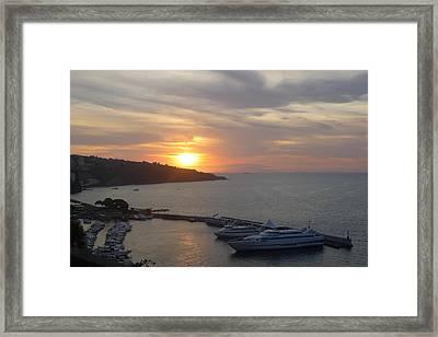 September Sunset In Sorrento Framed Print by Nora Boghossian