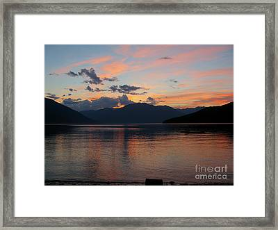 September Sunset Framed Print