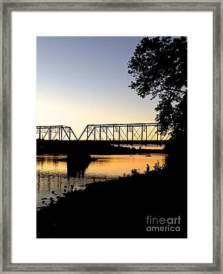 September Sunset On The River Framed Print