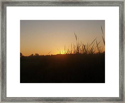 Framed Print featuring the photograph September Sunset by Teresa Schomig