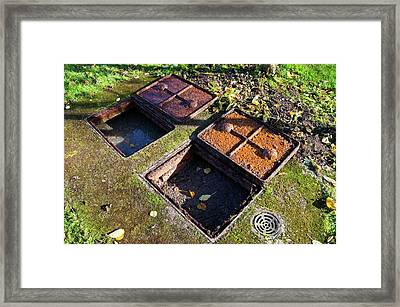 Septic Tank. Framed Print