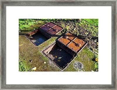 Septic Tank. Framed Print by Mark Williamson