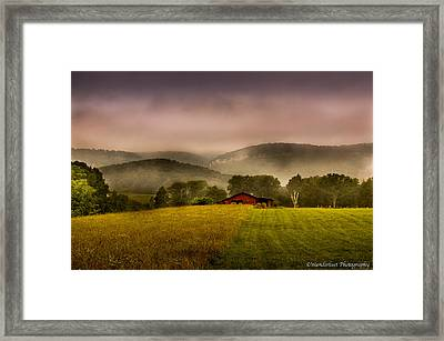 Sequatchie Vally Red Barn Framed Print by Paul Herrmann