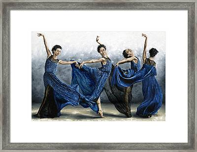 Sequential Dancer Framed Print by Richard Young