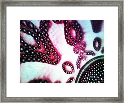 Sequin Framed Print