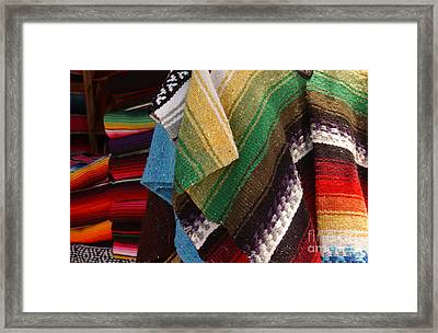 Serapes For Sale - Old Town San Diego Framed Print by Anna Lisa Yoder