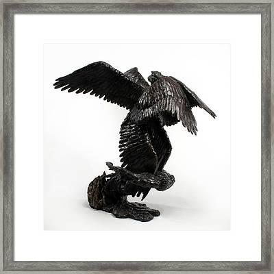 Seraph Angel A Religious Bronze Sculpture By Adam Long Framed Print