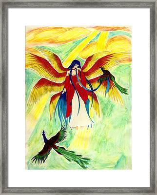 Seraphim Framed Print by Kaleigh Civis