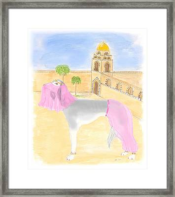 Framed Print featuring the painting Serena All Set For Arabian Nights by Stephanie Grant