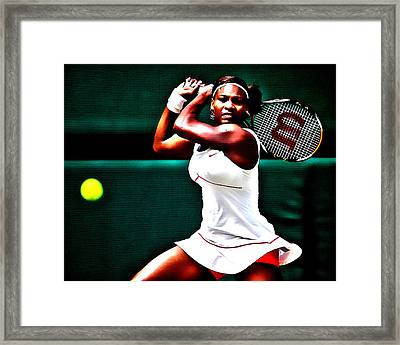 Serena Williams 3a Framed Print by Brian Reaves