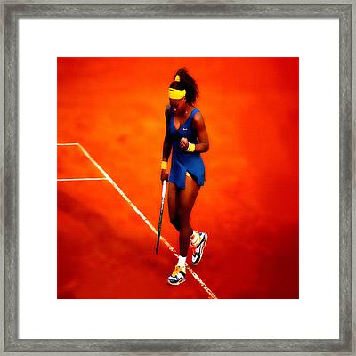 Serena Williams 4a Framed Print by Brian Reaves