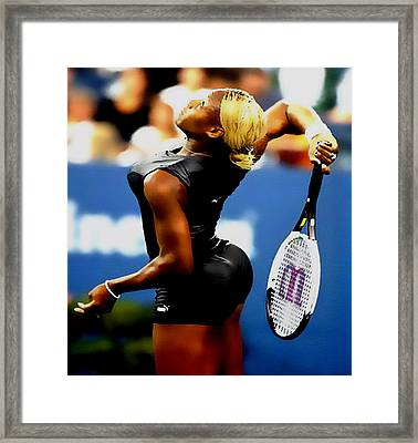 Serena Williams Catsuit II Framed Print by Brian Reaves