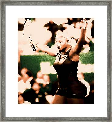 Serena Williams Catsuit IIi Framed Print by Brian Reaves