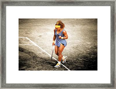 Serena Williams Count It Framed Print by Brian Reaves