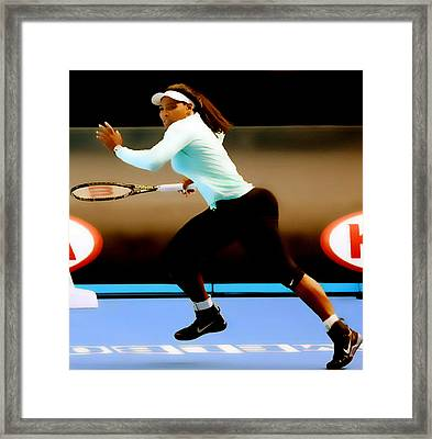 Serena Williams Extended Framed Print by Brian Reaves