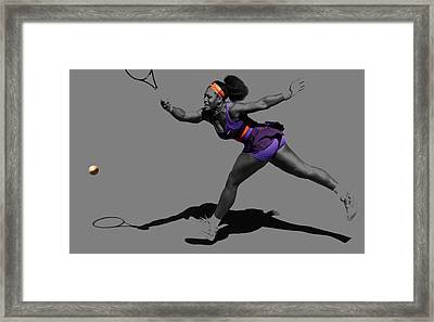 Serena Williams Getting It Done Framed Print by Brian Reaves