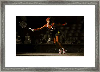 Serena Williams Grace Framed Print by Brian Reaves