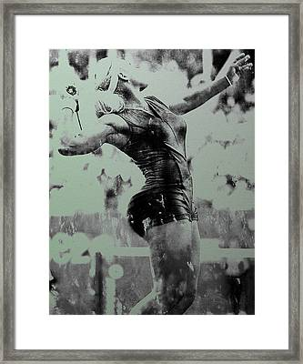 Serena Williams Catsuit 03a Framed Print by Brian Reaves
