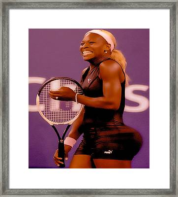 Serena Williams Oh My Framed Print