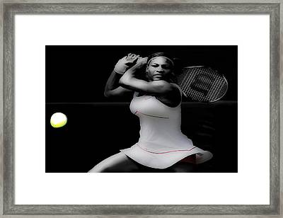 Serena Williams Power Stance Framed Print by Brian Reaves