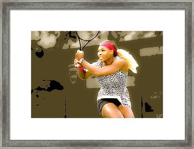 Serena Williams Standing Out Framed Print by Brian Reaves