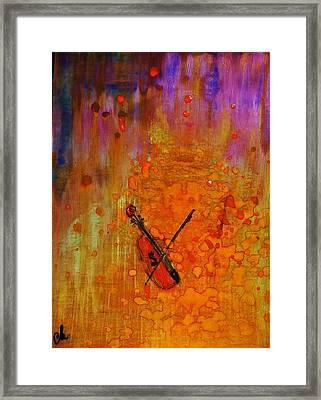Framed Print featuring the painting Serenade For A Rainy Day... by Cristina Mihailescu