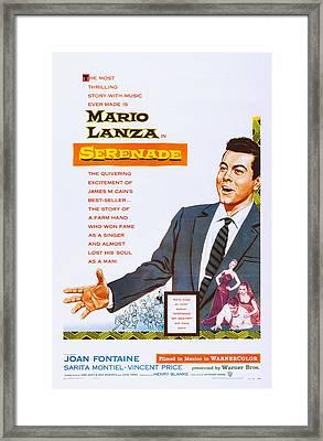 Serenade, Us Poster Art, Mario Lanza Framed Print