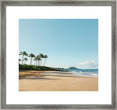 Serene Beach Framed Print by M Swiet Productions